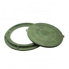 Люк полимерный легкий малый, 30кН (зеленый)