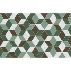 Декор Веста зеленый 02 25х40 см