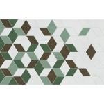 Декор Веста зеленый 01 25х40 см