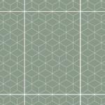 Плитка настенная Веста зеленый низ 02 25х40 см