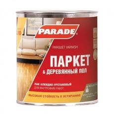 """Лак паркетный """"PARADE"""" L-10 алкидно-уретановый полуматовый 0,75 л"""