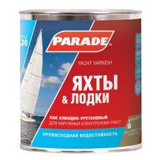 """Лак яхтный """"PARADE"""" L-20 алкидно-уретановый матовый 2,5 л"""