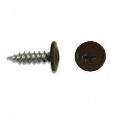 Саморез 4,2х19 (RAL8017) коричневый шоколад, полусфера-прессшайба, острый (30 шт)
