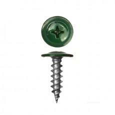 Саморез 4,2х19 (RAL6005) зеленый мох, полусфера-прессшайба, острый (30шт)