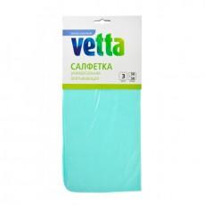 Салфетка VETTA универсальная впитывающая, ПВА, 30х30см, 3 цвета 448-107