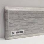 Плинтус Ideal Деконика 70 мм Ясень серый 253