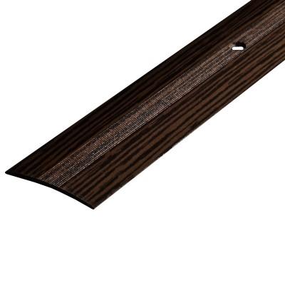 Порог А5-37мм алюминиевый Дуб мореный №122 длина 0,9м