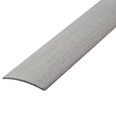 Порог В4-41мм алюминиевый Дуб арктический № 105, 1,8м скрытый крепеж