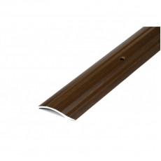 Порог А5-37мм алюминиевый декор цвет Венге №94 0,9 м