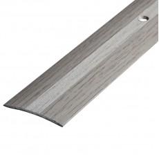 Порог А5-37мм алюминиевый декор цвет Дуб арктический №105 1,8 м
