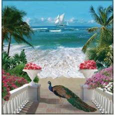 Декоративное панно У моря 196х201  (6 листов)