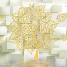 Декоративное панно Золотое дерево 294х260 (12 листов) VIP
