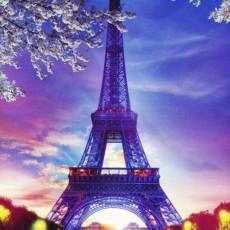Декоративное панно Париж 134х196 (4л)