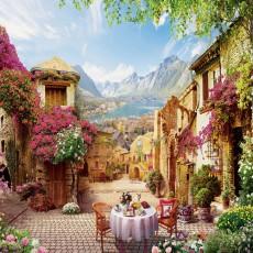 Декоративное панно VIP Старый дворик 392х260 (16л)