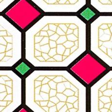 Пленка самоклеящаяся COLOR DECOR 0,45х8м Витражная, розово-зеленые ромбы на паутине 9035