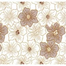 Пленка самоклеящаяся COLOR DECOR 0,45х8м Бежевые цветы на белом фоне 5684-1