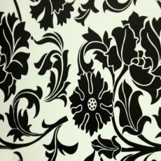 Пленка самоклеящаяся COLOR DECOR 0,45х8м Черные цветы на белом фоне 8422