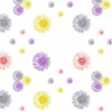 Пленка самоклеящаяся COLOR DECOR 0,45х8м Разноцветные ромашки на белом фоне 8536