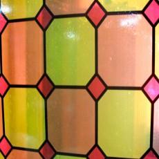 Пленка самоклеящаяся COLOR DECOR 0,45х8м Витражная красно-желтые квадраты 9004