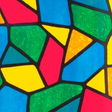 Пленка самоклеящаяся COLOR DECOR 0,45х8м Витражная, разноцветная абстракция 9047