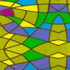 Пленка самоклеящаяся COLOR DECOR 0,45х8м Витражная, разноцветный калейдоскоп 9033