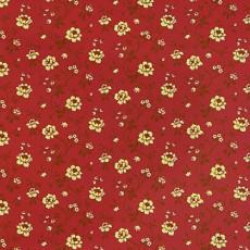 Пленка самоклеящаяся COLOR DECOR 0,45х8м Золотые рочки на красном фоне 3422А