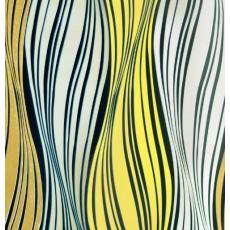 Пленка самоклеящаяся COLOR DECOR 0,45х8м Волнообразные серо-желтые полосы 3426