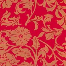 Пленка самоклеящаяся COLOR DECOR 0,45х8м Золотые цветы на красном фоне 8405