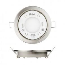 Светильник ультратонкий встраиваемый GX53/H2 CHROME 10 PROM , корпус хром, картон TM Uniel