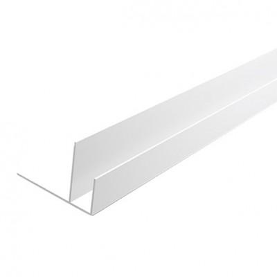 "F-профиль ПВХ ""Идеал"" Белый глянцевый 001-G, 8 мм, 3,0 м"
