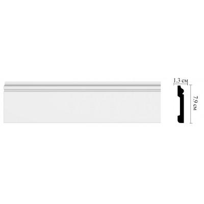 Плинтус напольный Decomaster D005 (79х13х2000 мм)