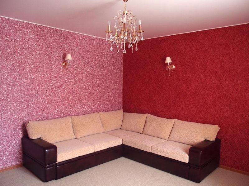 теплые холодные отделка стен жидкими обоями фото обновление