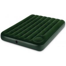 Кровать флок INTEX Downy, 137x191x25см, встроенный насос, зеленый