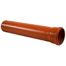 Труба D 110 L=1м красно-коричневая РР