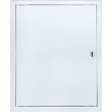 Люк-дверца ревизионная ЛТ3030М 360х360 с фланцем 300х300 с ручкой стальная с покрытием полимер