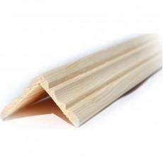 Уголок деревянный 30 фигурный стык. 30/30*2500мм. (сорт А хвоя)