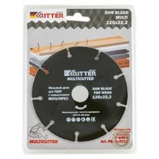 Диск пильный Ritter Multi 125х22,2х1,0(с твердосплавным напылением: по дереву,пластику,газосиликату)