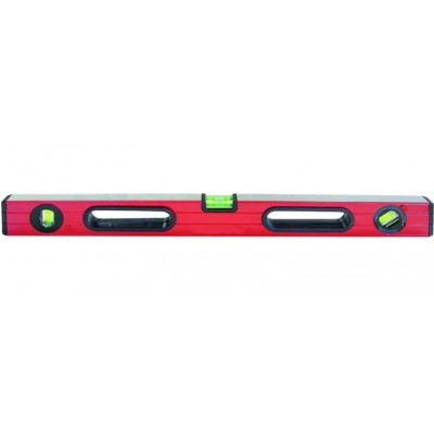 """Уровень упрочненный 600 мм """"PQ tools"""" (алюминиевый, 3 ампулы, 2 ручки, магнит)"""