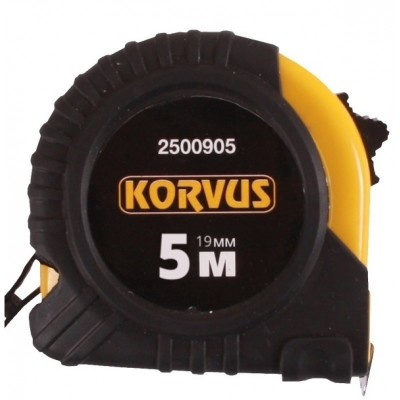 """Рулетка 5 метров  """"Korvus"""" (обрезиненный корпус) 2500905"""