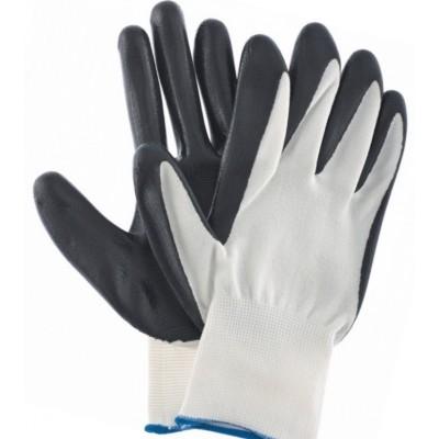 Перчатки черные,маслобензостойкие,L,15 класс вязки