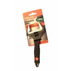 Разводной ключ 150 мм, УСИЛЕННЫЕ ТОНКИЕ ГУБКИ, обрезиненные рукоятки STURM