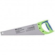 "Ножовка по дереву ""Зубец"", 400 мм, 7-8 TPI, зуб 2D, калёный зуб, 2-х компонентная рукоятка// Сибртех"
