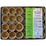 Набор Цветочный урожай (торфяные горшки 60*60, 24 шт+поддон 40*30*6,5 см)