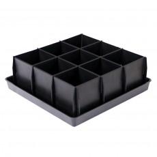 """Набор для рассады """"Урожай-9"""" 23х23х15 см, 9 ячеек (разборный) в индивидуальной упаковке"""