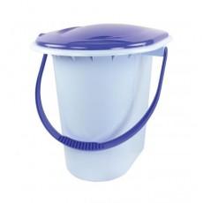 Ведро-туалет 17л голубой