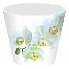 Горшок для цветов London Orchid Deco D 160 мм/1,6 л белая орхидея