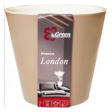 Горшок для цветов London D 160 мм, 1,6 л молочный шоколад