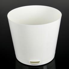 Горшок для цветов Easy Grow D 100 с прикорневым поливом (500 мл) Молочный