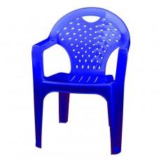 Кресло пластиковое синее М2611