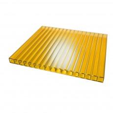 Сотовый поликарбонат Киви 4 мм slim 2100х3000, желтый (для беседки Счастье)
